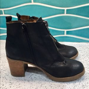 Anthropologie MTNG Black Leather Boots